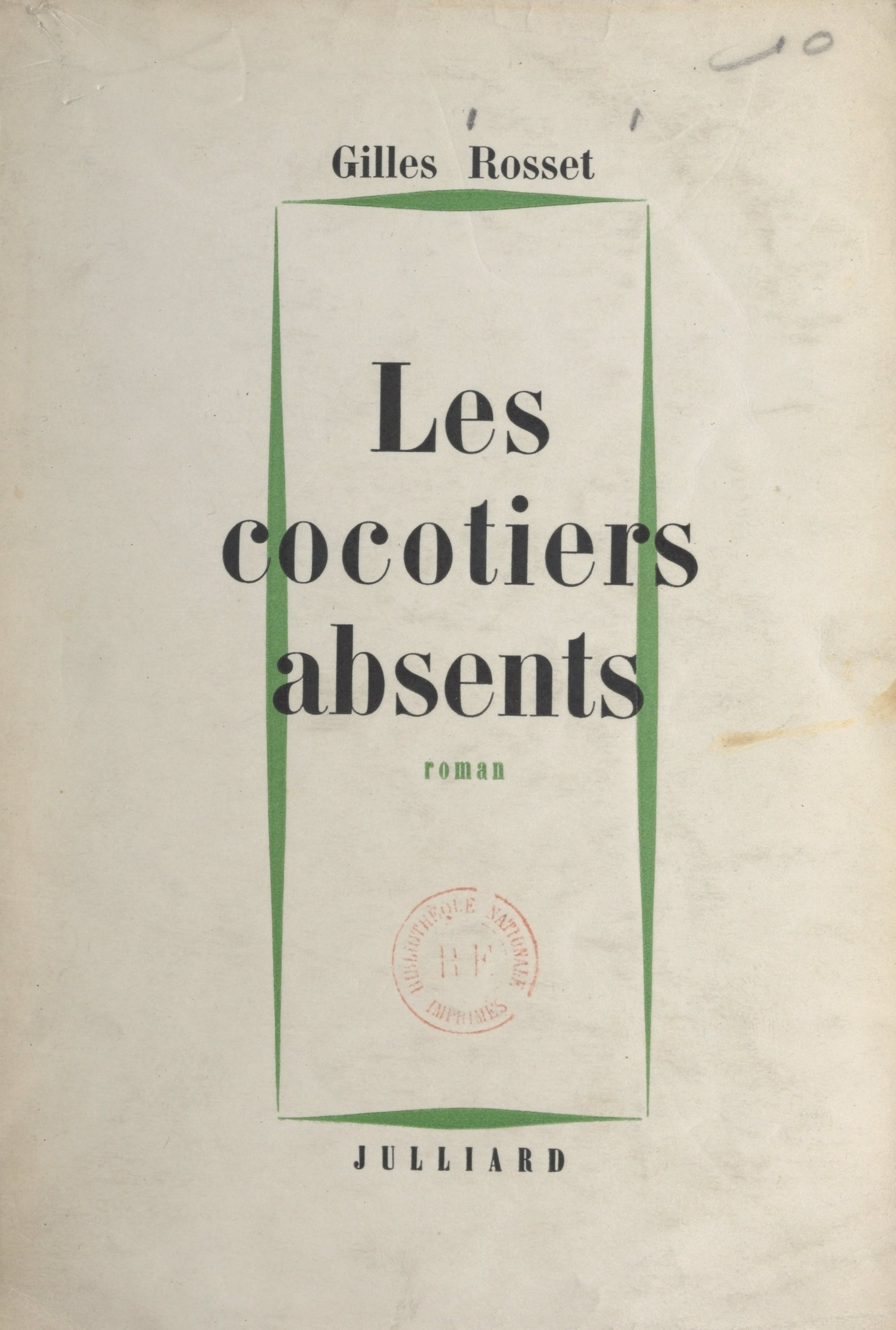 Les cocotiers absents