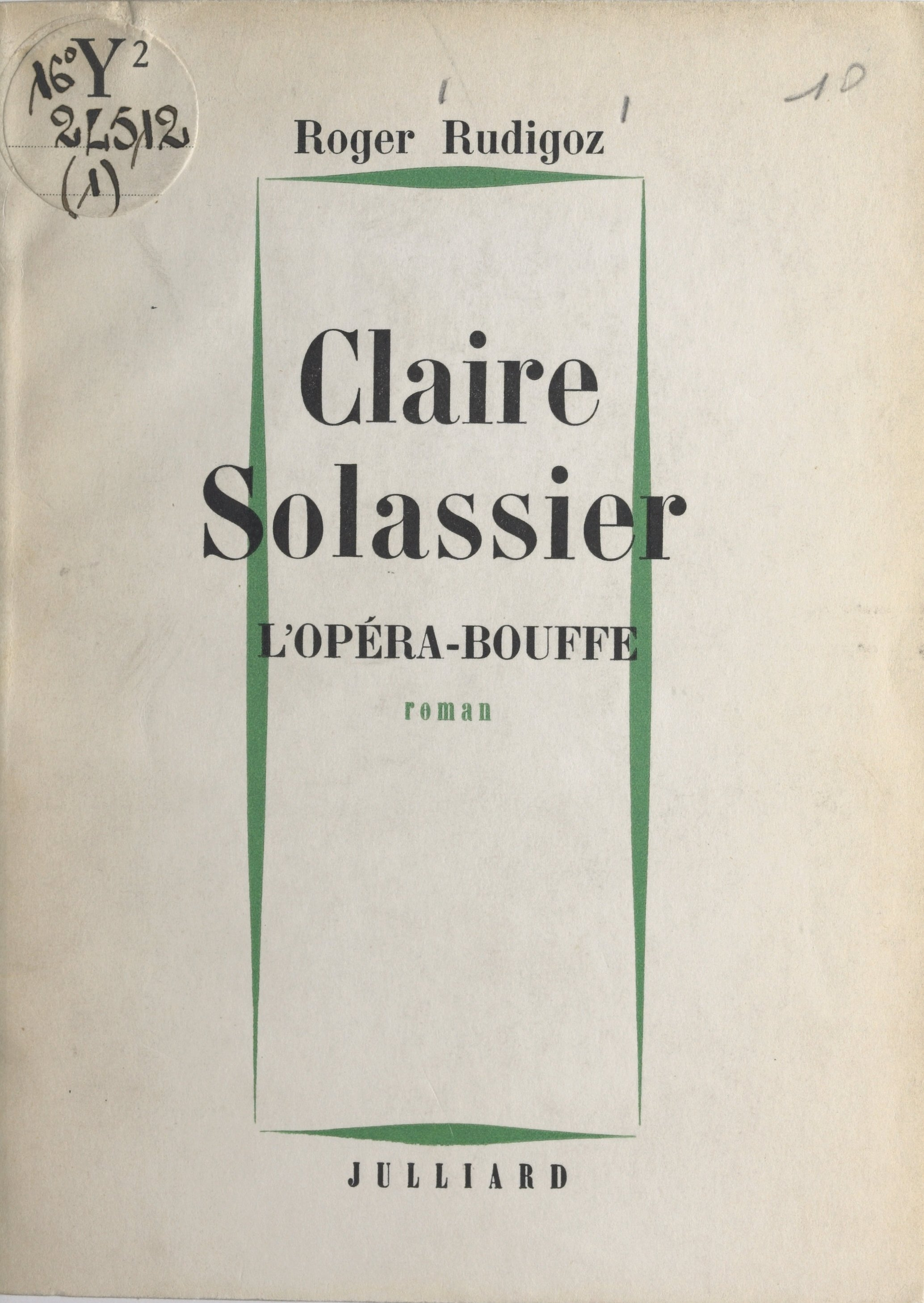 Claire Solassier (1) : L'op...