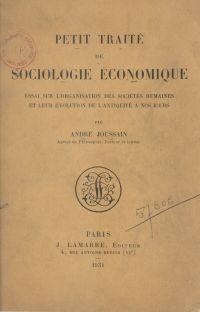 Petit traité de sociologie ...