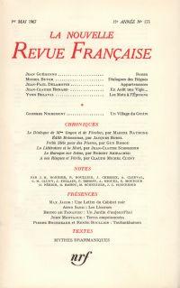 La Nouvelle Revue Française N' 173 (Mai 1967)