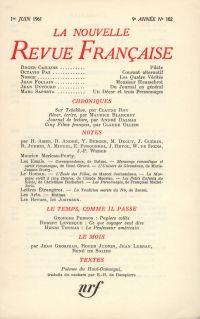 La Nouvelle Revue Française N' 102 (Juin 1961)