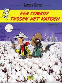 Een cowboy tussen het katoen