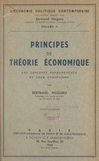 Principes de théorie économ...
