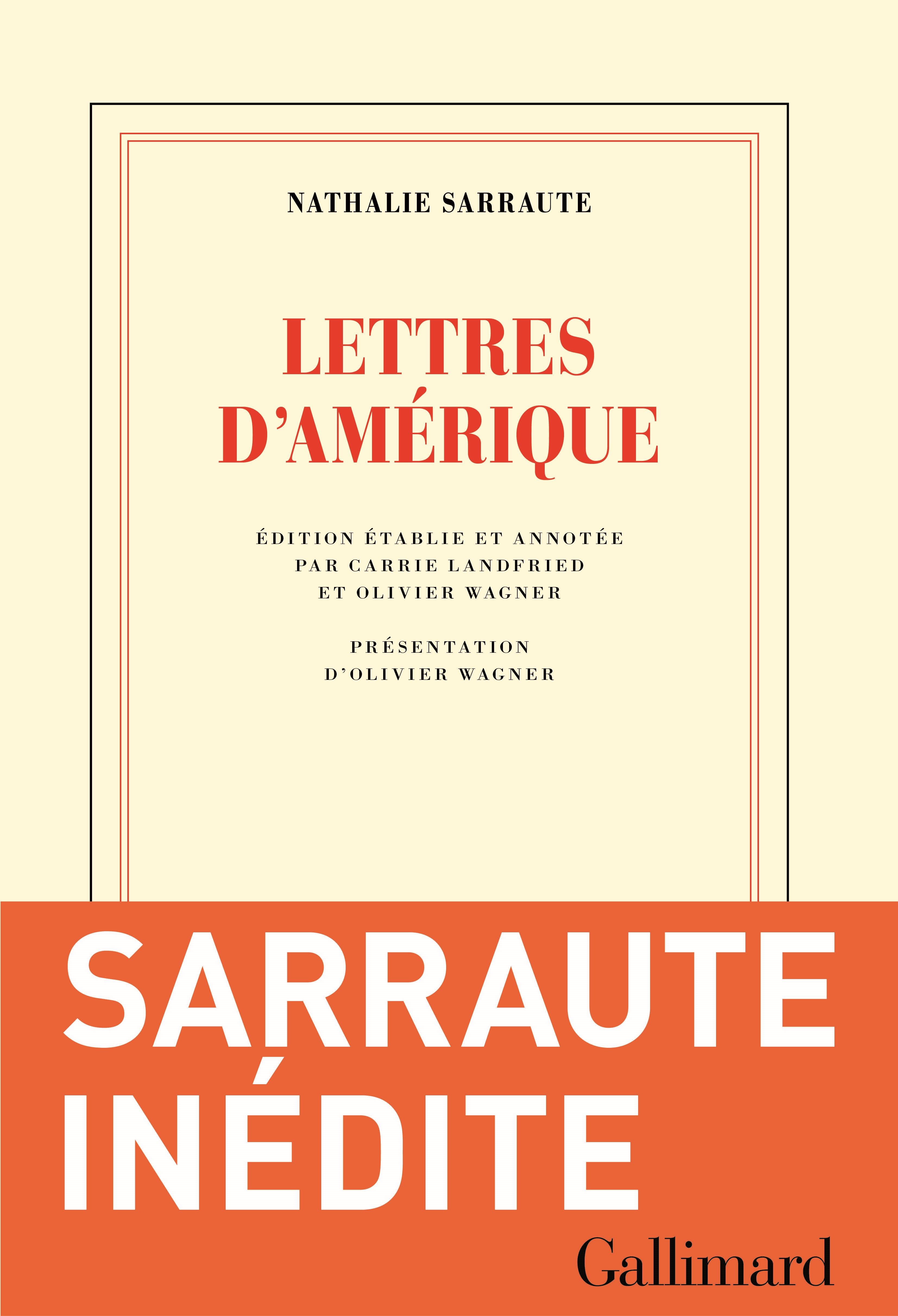 Lettres d'Amérique | Sarraute, Nathalie