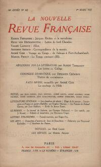 La Nouvelle Revue Française N' 162 (Mars 1927)