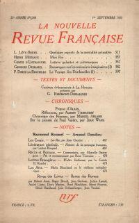 La Nouvelle Revue Française N° 240 (Septembre 1933)