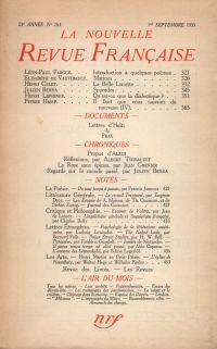 La Nouvelle Revue Française N° 264 (Septembre 1935)