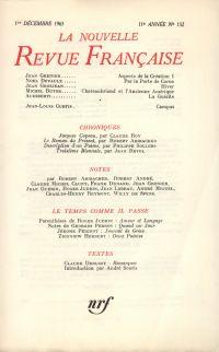 La Nouvelle Revue Française N' 132 (Décembre 1963)