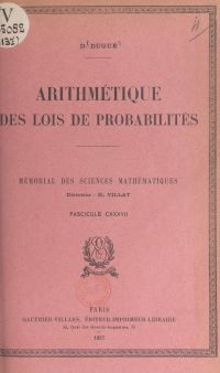 Arithmétique des lois de pr...