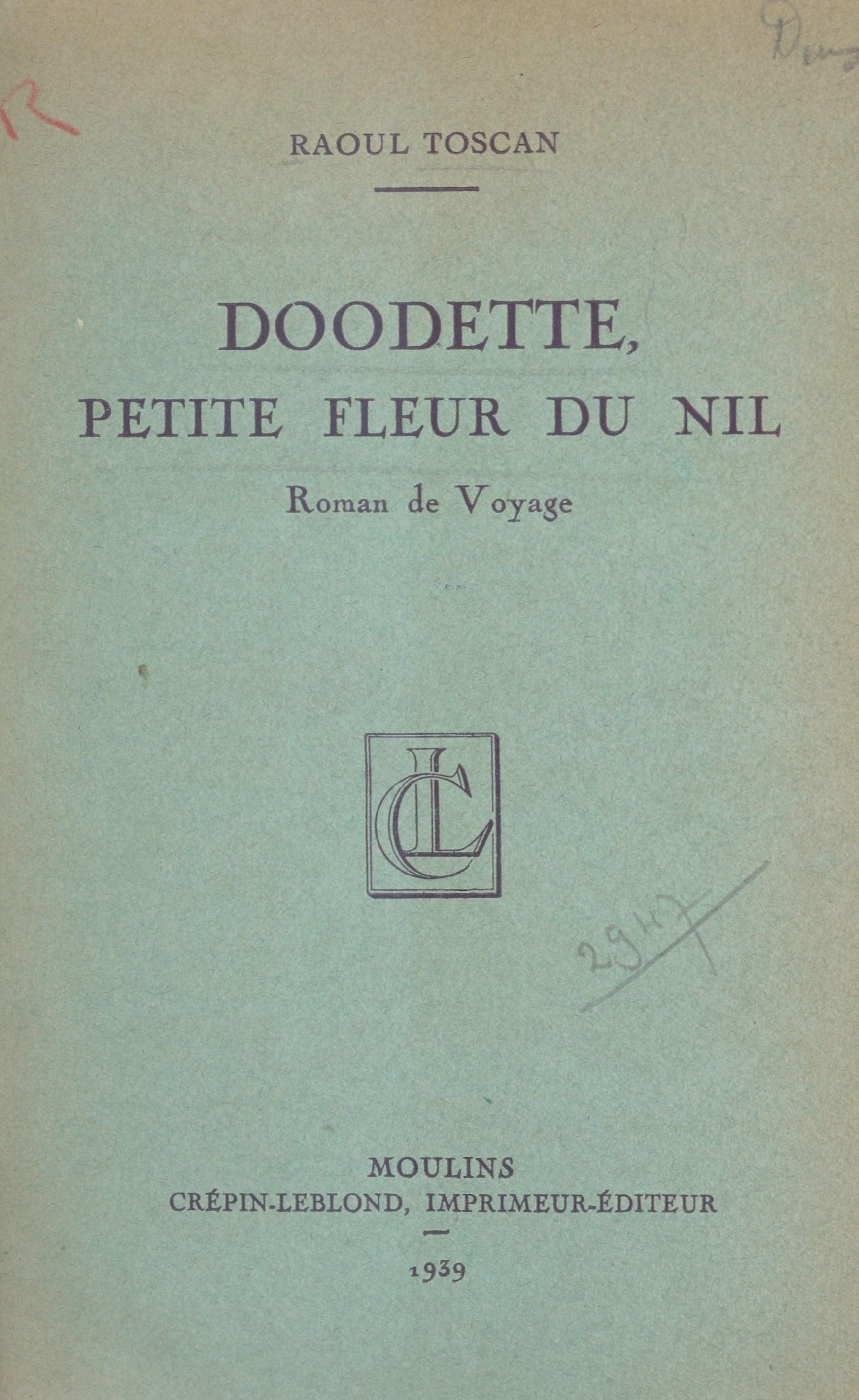Doodette, petite fleur du Nil, ROMAN DE VOYAGE