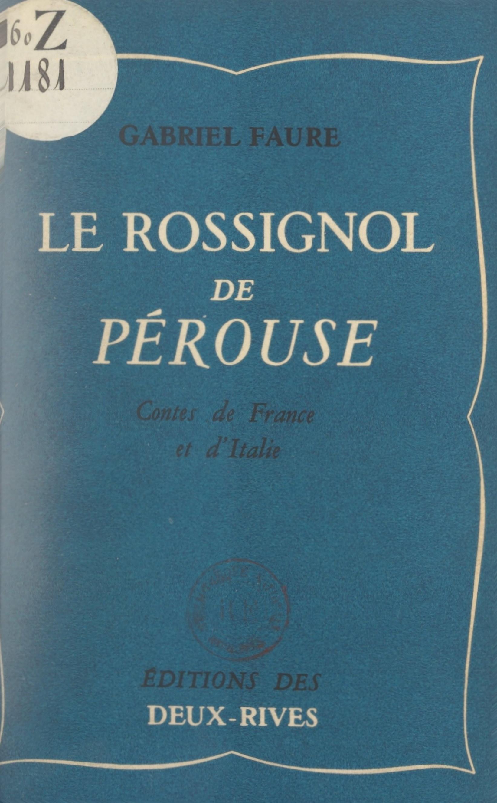 Le rossignol de Pérouse