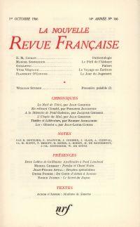 La Nouvelle Revue Française N' 166 (Octobre 1966)