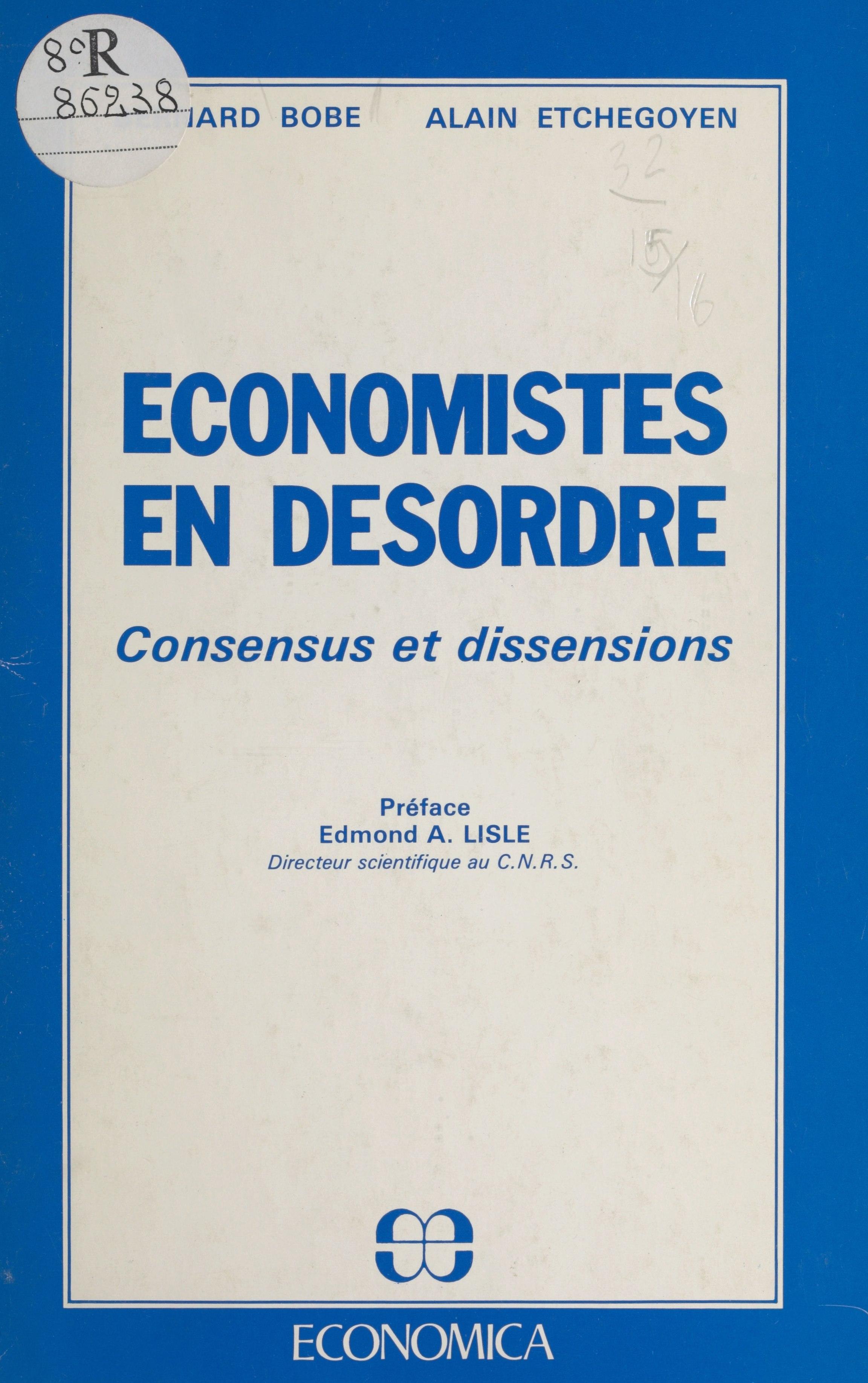 Économistes en désordre : c...
