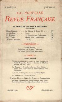 La Nouvelle Revue Française N' 197 (Février 1930)