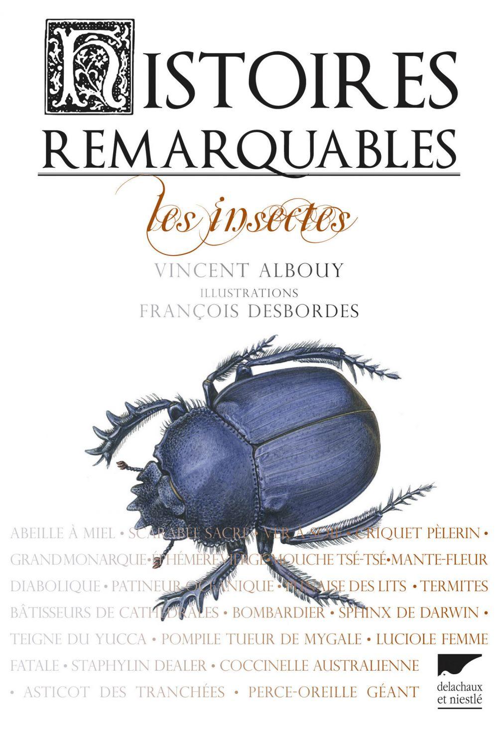 Histoires remarquables. Les insectes | Albouy, Vincent (1959-....). Auteur