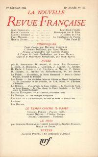 La Nouvelle Revue Française N' 110 (Février 1962)