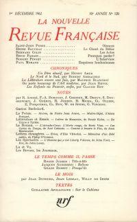 La Nouvelle Revue Française N' 120 (Décembre 1962)