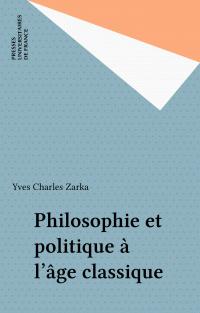 Philosophie et politique à ...