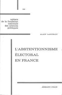 L'abstentionnisme électoral...