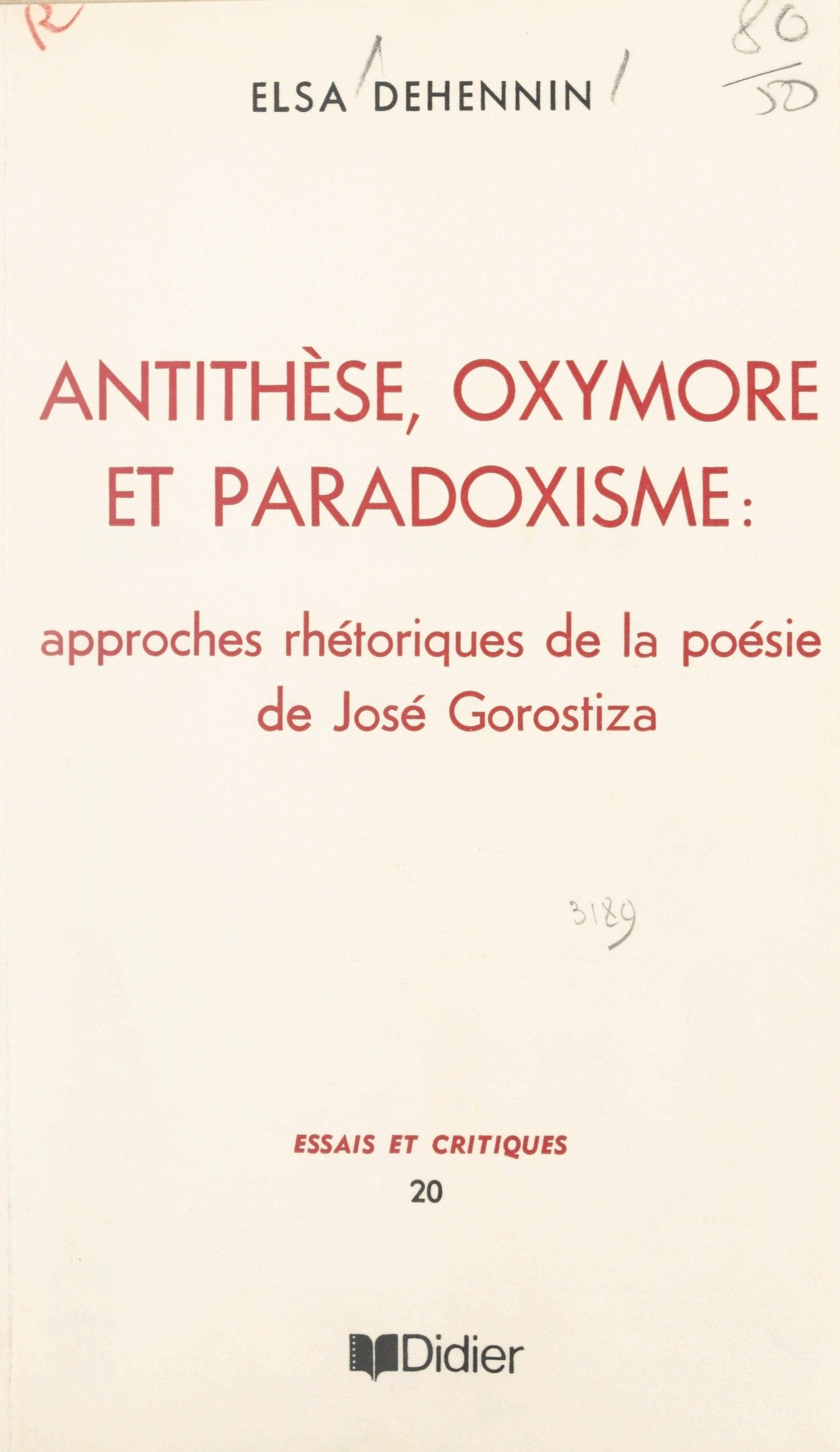 Antithèse, oxymore et parad...