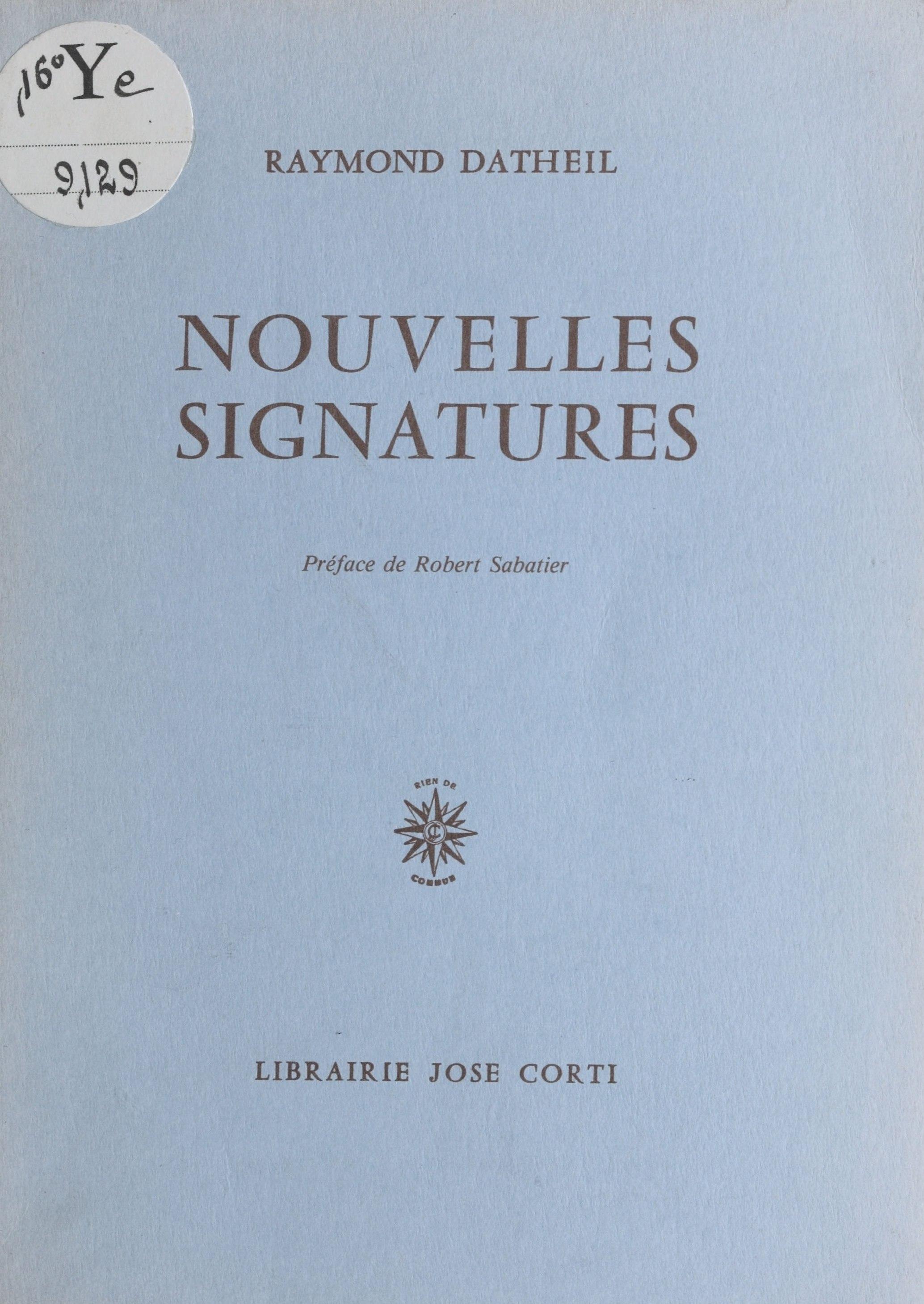 Nouvelles signatures