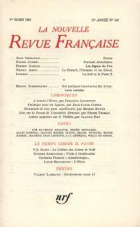 La Nouvelle Revue Française N' 147 (Mars 1965)