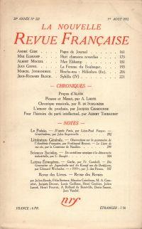 La Nouvelle Revue Française N° 227 (Aoűt 1932)