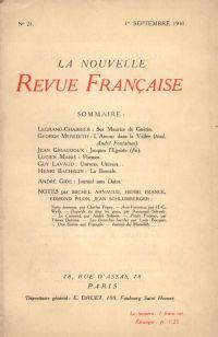 La Nouvelle Revue Française N' 21 (Septembre 1910)