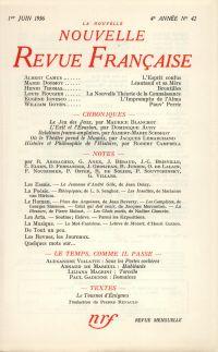 La Nouvelle Nouvelle Revue Française N' 42 (Juin 1956)