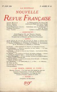 La Nouvelle Nouvelle Revue Française N' 18 (Juin 1954)