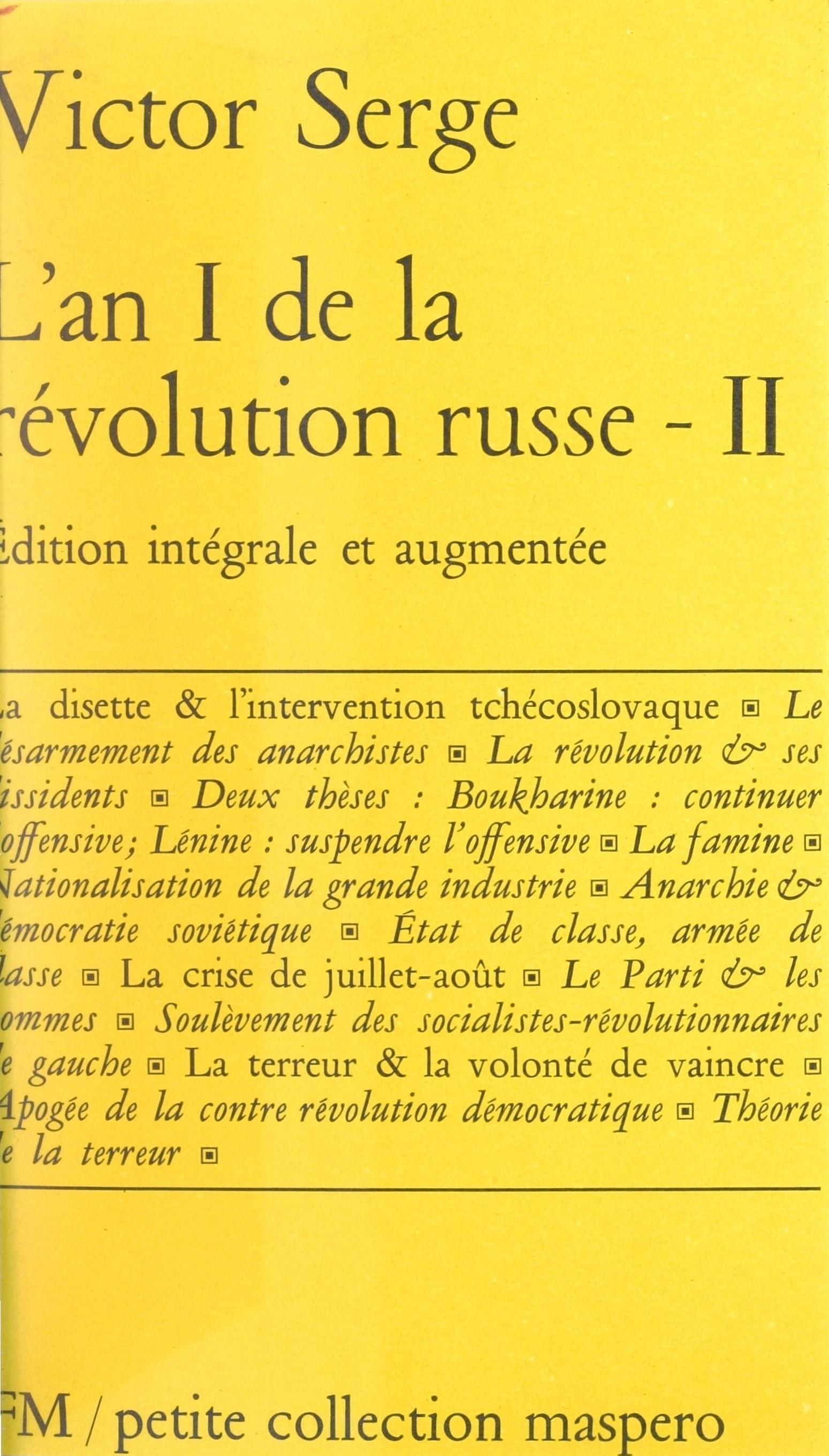 L'an I de la Révolution russe (2)