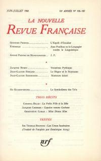 La Nouvelle Revue Française N' 186 (Juillet 1968)