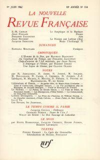 La Nouvelle Revue Française N' 114 (Juin 1962)